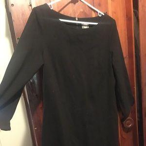 Vince Camuto Long Sleeve Black Dress (Size 12)